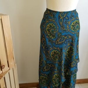 NWT Evan Picone woman teal skirt size 16W